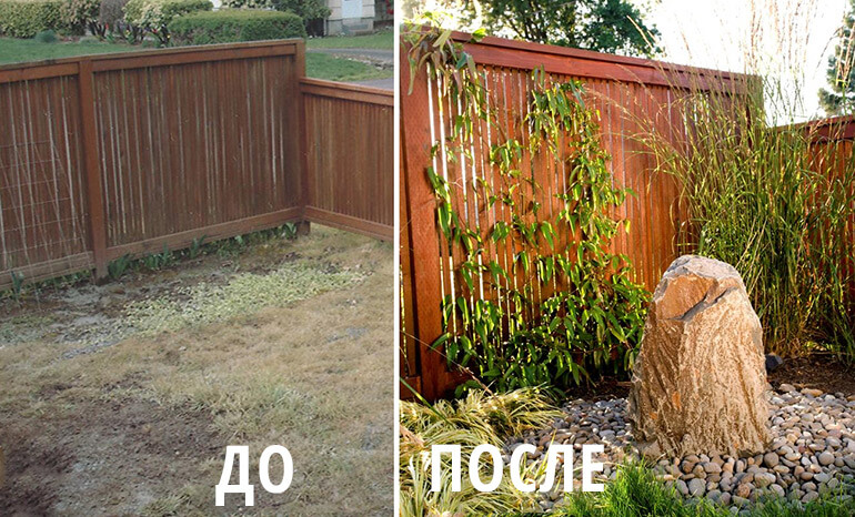 Ландшафтный дизайн до и после