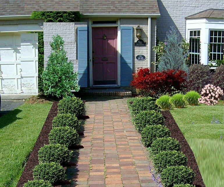 Хорошая садовая дорожка, ведущая к входу