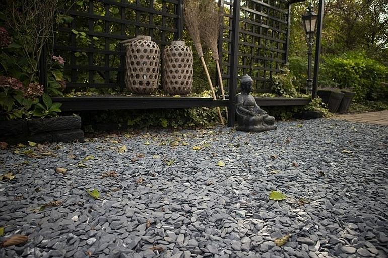 Гравийный сад в стиле японского сада