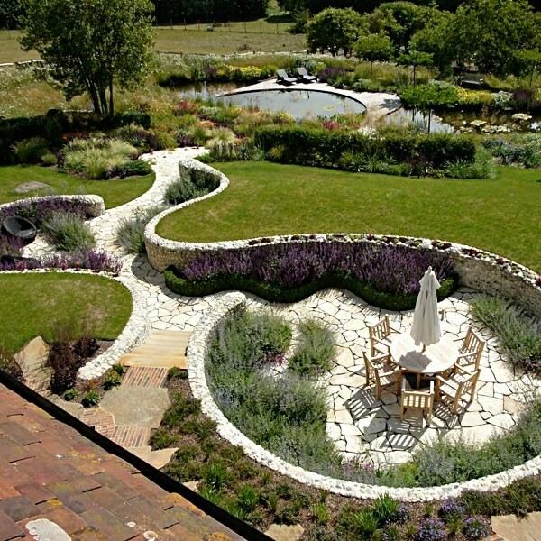 Стильный и классный садовый пейзаж