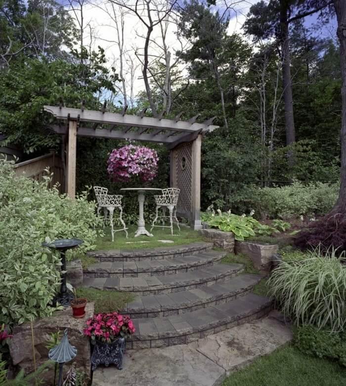 Романтический дизайн сада с беседкой (Пергола)