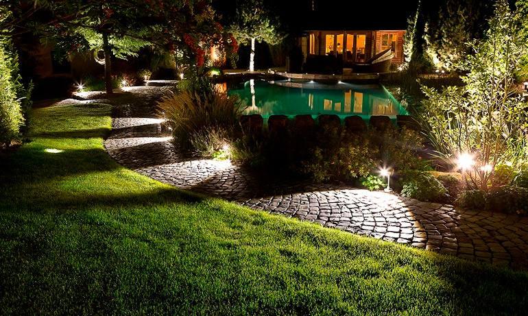 Освещение в саду 23 идеи для романтики