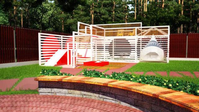 Пример проекта ландшафтного дизайна в Бернгардовке
