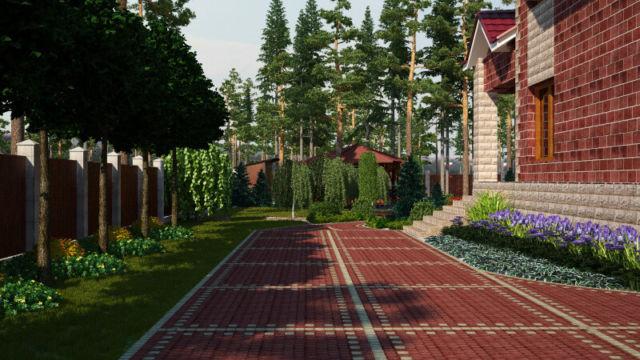 Ландшафтный проект в Отрадном
