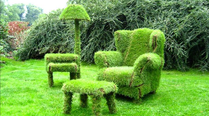 Декоративный куст в форме кресла