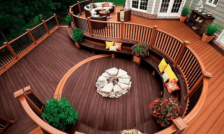Ландшафтный дизайн террасы