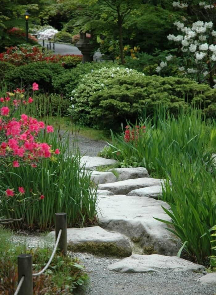 Проложите садовую дорожку сквозь цветы в саду