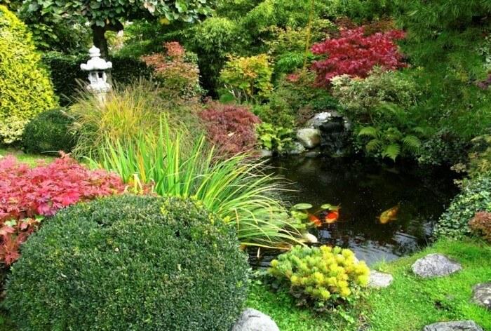 Садовый пруд принесет свежести на открытом воздухе
