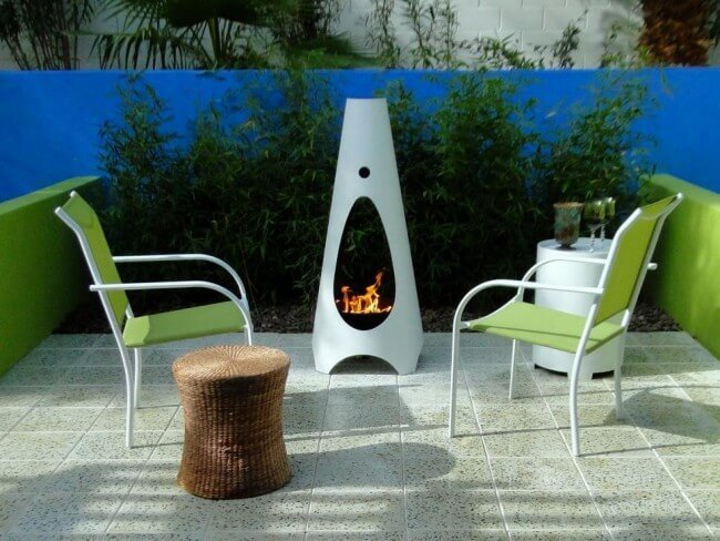 Дизайн камина для сада