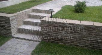 Сосново подпорные стенки